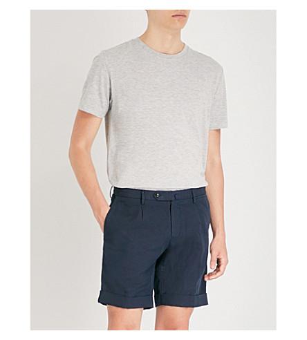 REISS Bless marl-effect cotton-blend T-shirt (Grey+melange