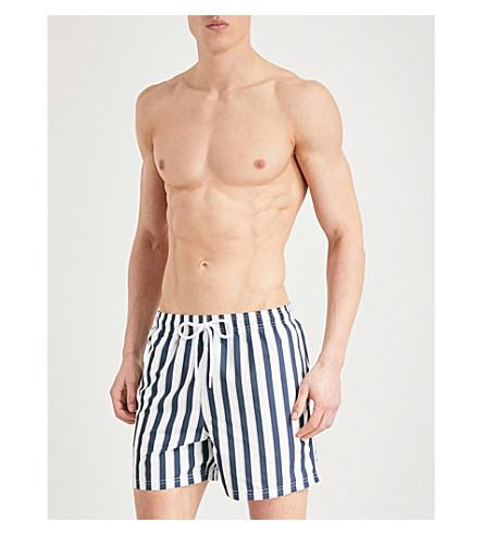 REISS Flint striped swim shorts (Navy