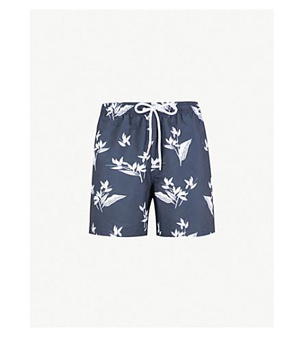REISS Meller printed swim shorts (Navy