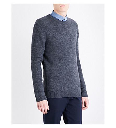 REISS Zagger wool-blend jumper (Charcoal