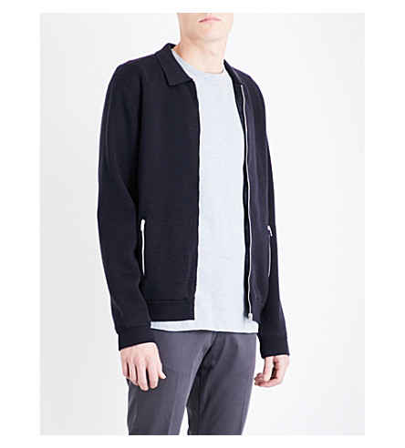 REISS Tod wool-blend jacket (Midnight