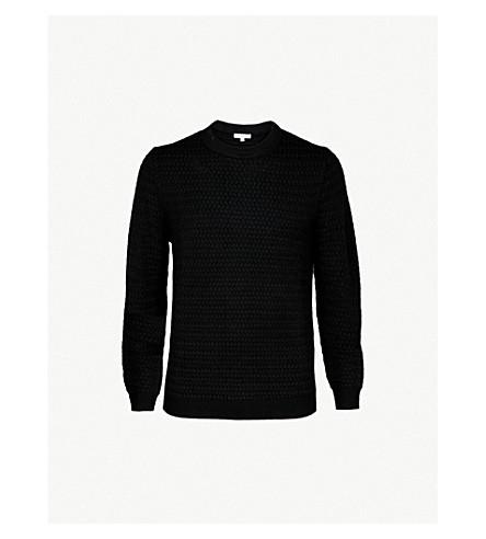 REISS 希思菲尔德羊毛混纺毛衣 (黑色