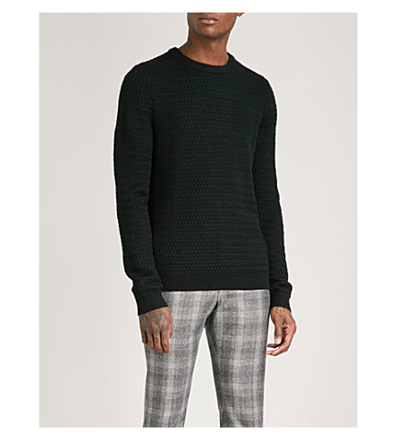 REISS Heathfield wool-blend jumper (Black