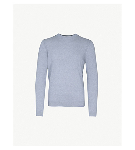 REISS Charmer wool and cashmere-blend jumper (Airforce+blue
