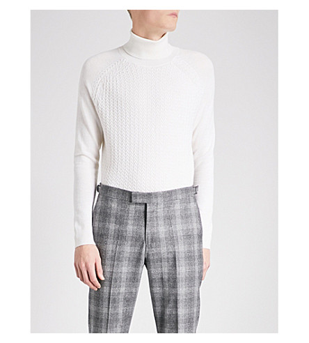 REISS Felton turtleneck wool jumper (Ecru
