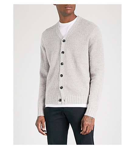 REISS Stanford knitted cardigan (Grey