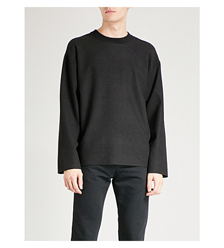 REISS Lonesome knitted jumper (Black