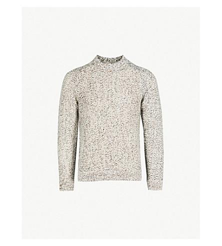 REISS Longloft knitted jumper (Oatmeal