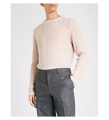REISS Mitford knitted jumper (Dusty+pink