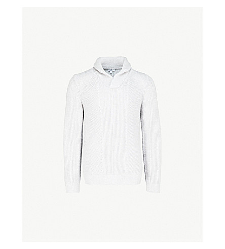 REISS Largs knitted jumper (Grey