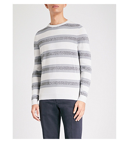 REISS Embleton wool-blend jumper (Ecru