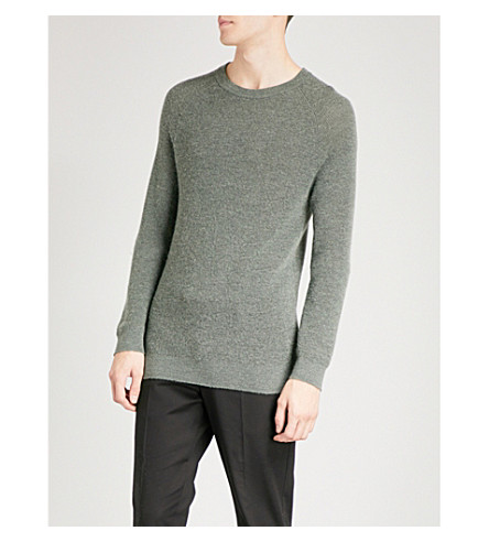REISS Hamlet wool-blend jumper (Green
