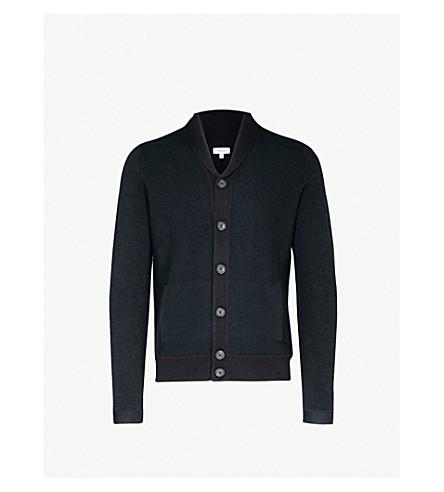 REISS Millside wool cardigan (Navy