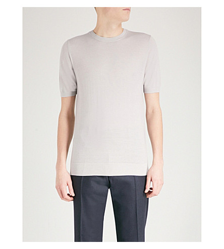 REISS Wiltshire Merino wool jumper (Grey
