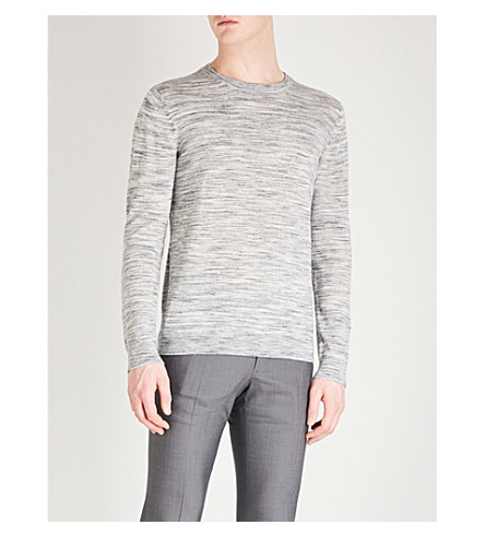 REISS Babbington knitted wool jumper (Grey