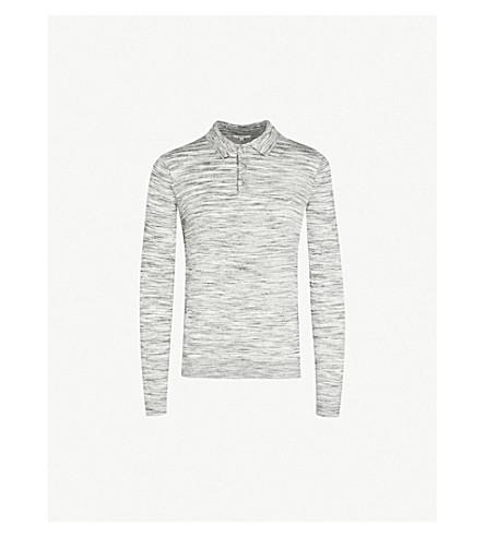 REISS Ryan wool polo shirt (Grey