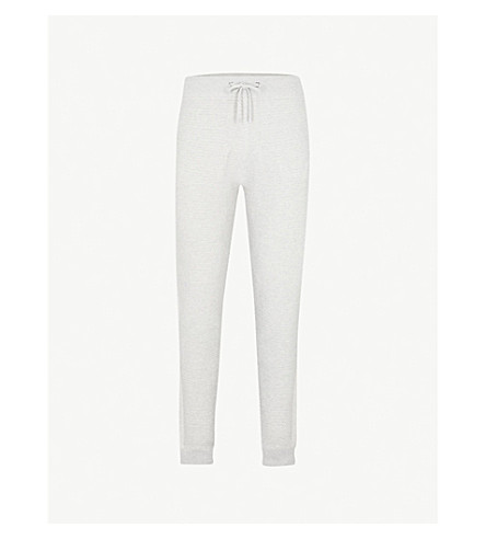 REISS Robinson slim-fit knitted jogging bottoms (Grey