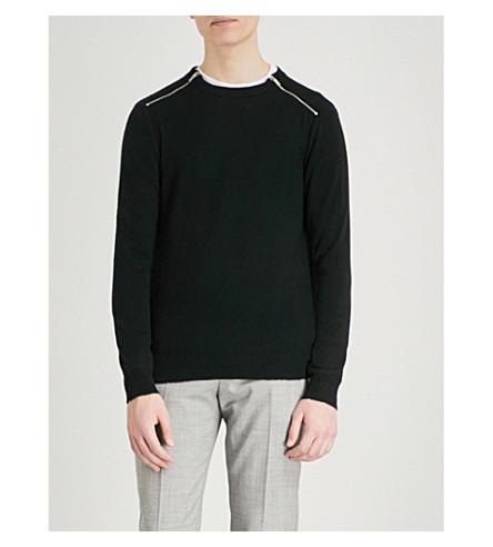 REISS Fraser knitted jumper (Black