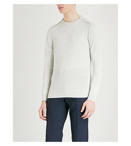 REISS Fraser Fraser jumper grey Soft knitted REISS ZUZOwxr4qE