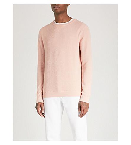REISS Laurence cotton-blend jumper (Soft+pink