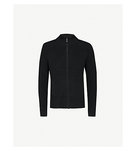 REISS Ludlow knitted jumper (Black
