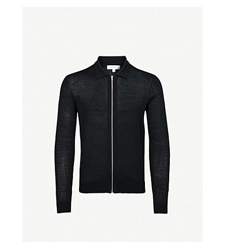 REISS Mattheus wool cardigan (Black