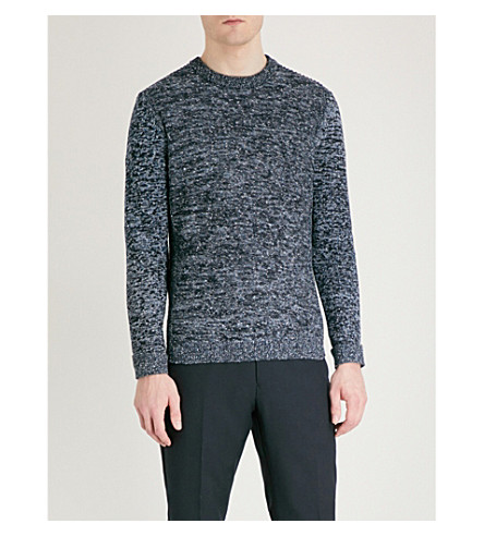 REISS Matthewson knitted jumper (Navy