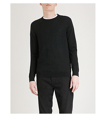 REISS Wessex wool jumper (Black