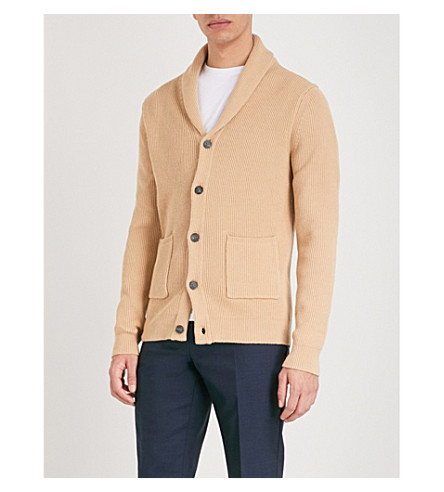 REISS Montreal knitted cardigan (Oatmeal