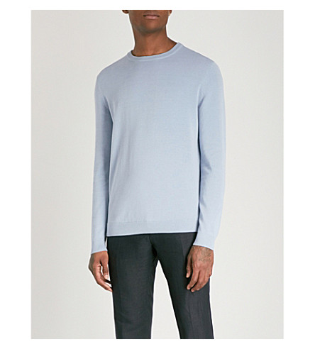 REISS Maurice cotton jumper (Cornflower+blue