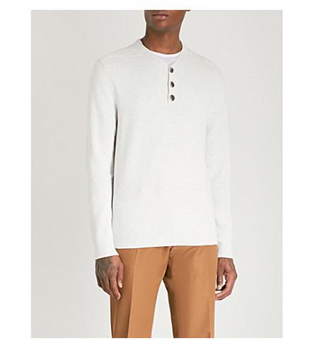 REISS Mount fine-knit cotton jumper (Grey+melange