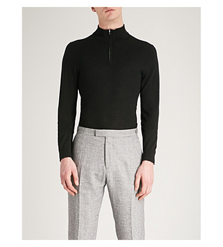 REISS Blackhall funnel neck jumper (Black