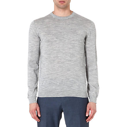 REISS Bryant merino crew-neck jumper (Grey
