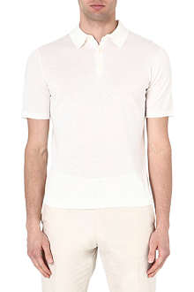 REISS Hewitt knitted polo shirt