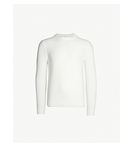 REISS Humbleton crewneck knitted sweater (Ivory