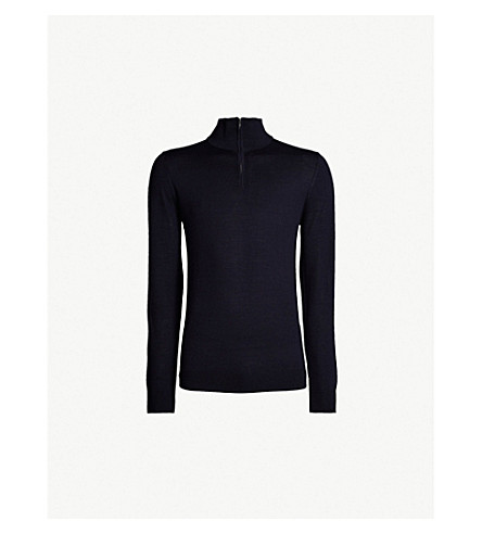 REISS Blackhall wool sweater (Midnight navy