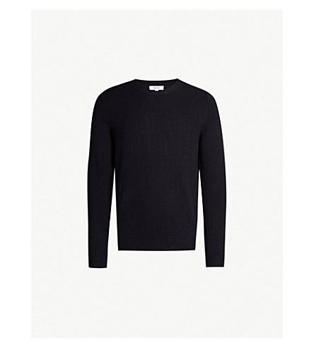 REISS Bolton wool and alpaca-blend sweater (Navy