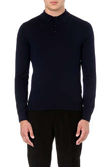 REISS Boulter wool polo shirt