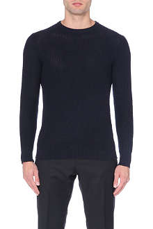 REISS Aviator honeycomb weave jumper