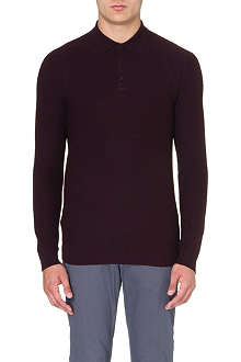 REISS Stitch detail polo shirt
