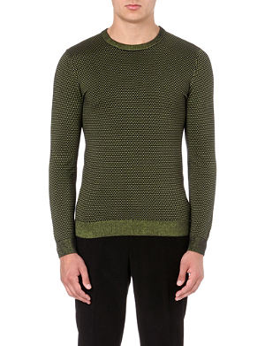 REISS Morrison neon-thread jumper