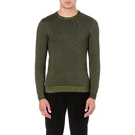 REISS Morrison neon-thread jumper (Black