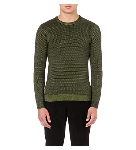 REISS Morrison neon-thread jumper (Black