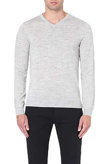 REISS Alto merino wool v-neck jumper