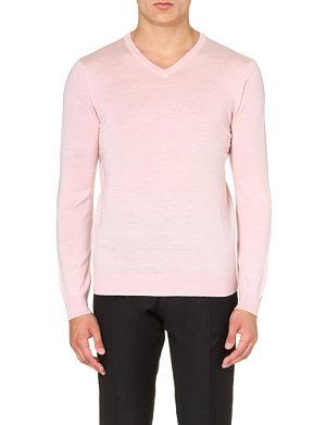 REISS Alto v-neck merino wool jumper