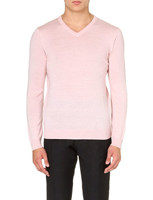 REISS Alto v-neck merino wool jumper