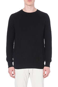 REISS Raglan crew-neck jumper