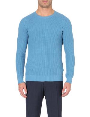 REISS Laine waffle-knit jumper