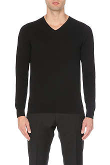 REISS Jude lightweight v-neck jumper