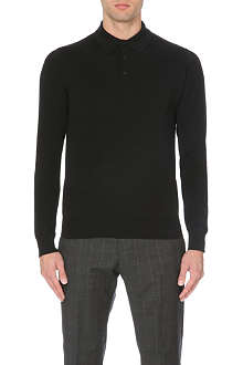 REISS Jersey cotton polo shirt